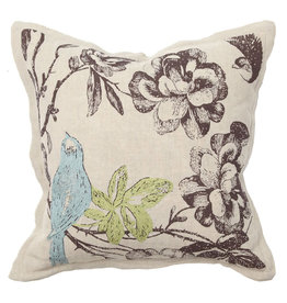 Paradise Bluebird Pillow - 18 x 18
