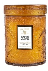 Baltic Amber Small Embossed Jar Candle