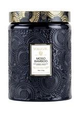 Moso Bamboo Large Embossed Jar Candle