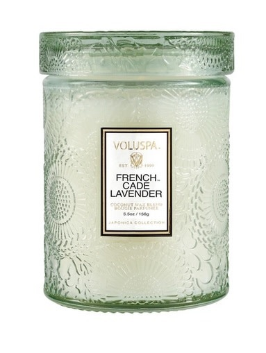 French Cade Lavender Small Embossed Jar Candle