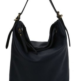 Multi Compartment Textured Bucket Bag