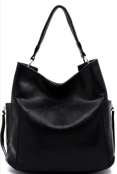 Intertwined Handle Shoulder Bag