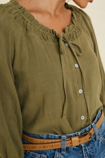 Linen Button Down Top