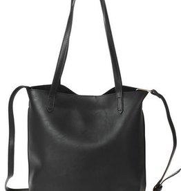 Slim Double Handle Shoulder Strap Tote Bag