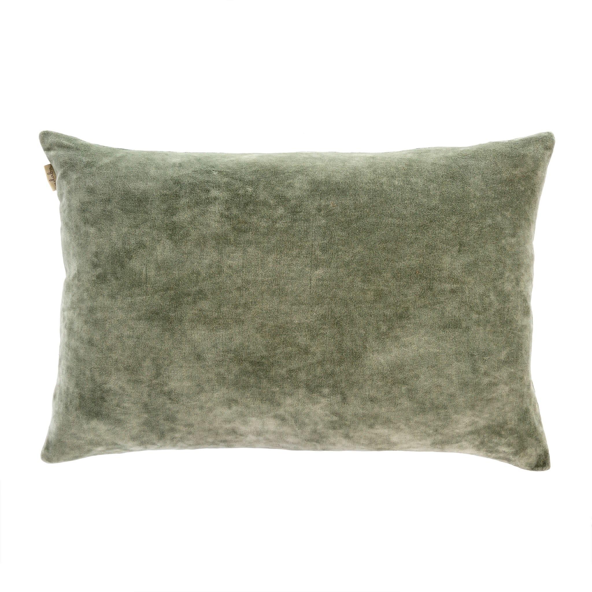 Vera Velvet Pillow - Green Tea 16x24
