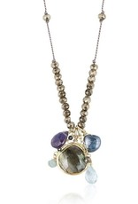 Sylvie Dangle Necklace Labradorite Blue Multi
