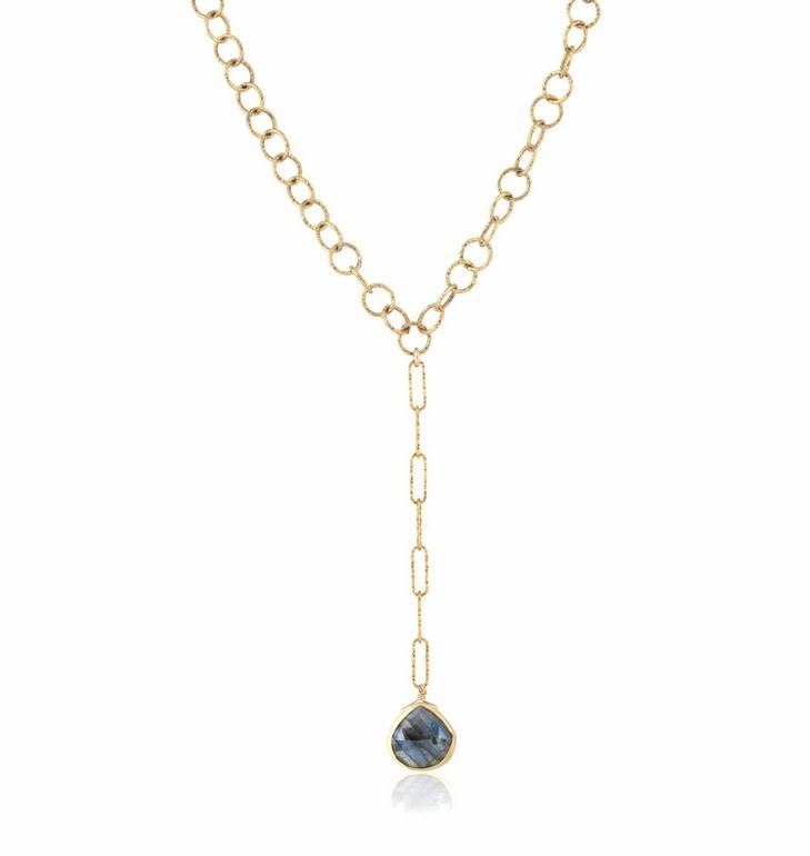 "Yaeli Sparkle Labradorite Necklace 16"""