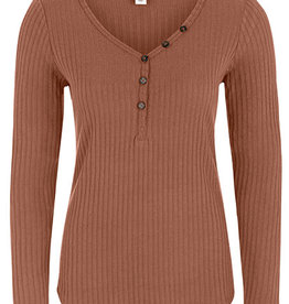 Tribal Long Sleeve Henley Auburn