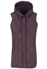 Tribal Hooded Long Puffer Vest