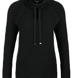 Tribal Cowl Neck Sweater Black