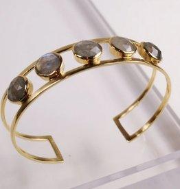 Jordan Cuff Bracelet Labradorite