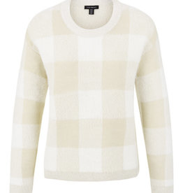 Tribal Plaid Sweater Pebble