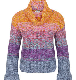 Tribal Cowl Neck Sweater Wisteria