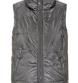 Tribal Reversible Puffer Vest Charcoal