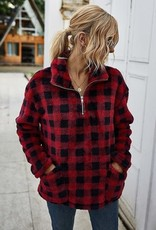 Buffalo Plaid Pullover Red