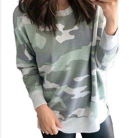 Cozy Camo Pullover Green Grey