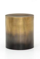Cameron Ombre End Table Antique Brass