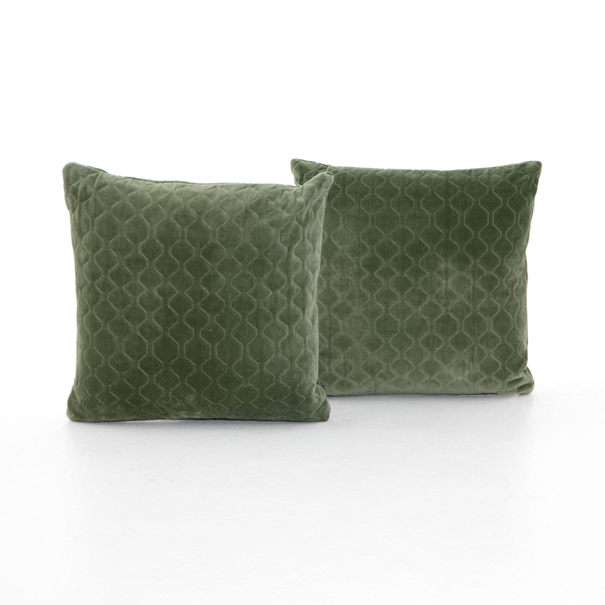 Bly Velvet Pillow Moss - 20 x 20