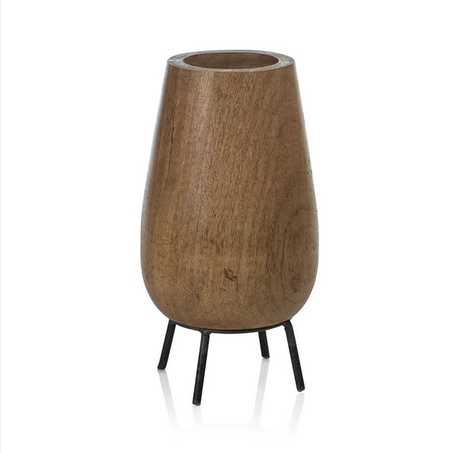 Mango Wood Bowl on Stand - Tall