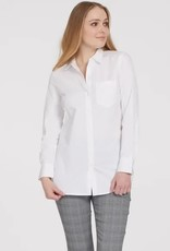 Tribal Roll Up Sleeve Shirt White