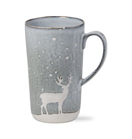 Falling Snow Reindeer Mug