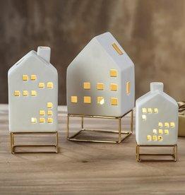 LED House on Metal Base