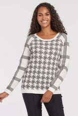 Tribal Reversible Raglan Sweater Black