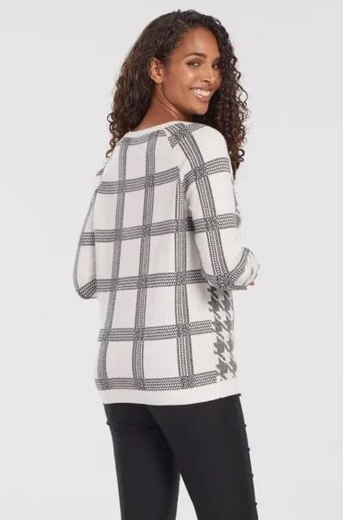 Tribal Reversible Raglan Sweater Black