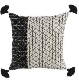Bakari Pillow Black/Ivory - 20 x 20