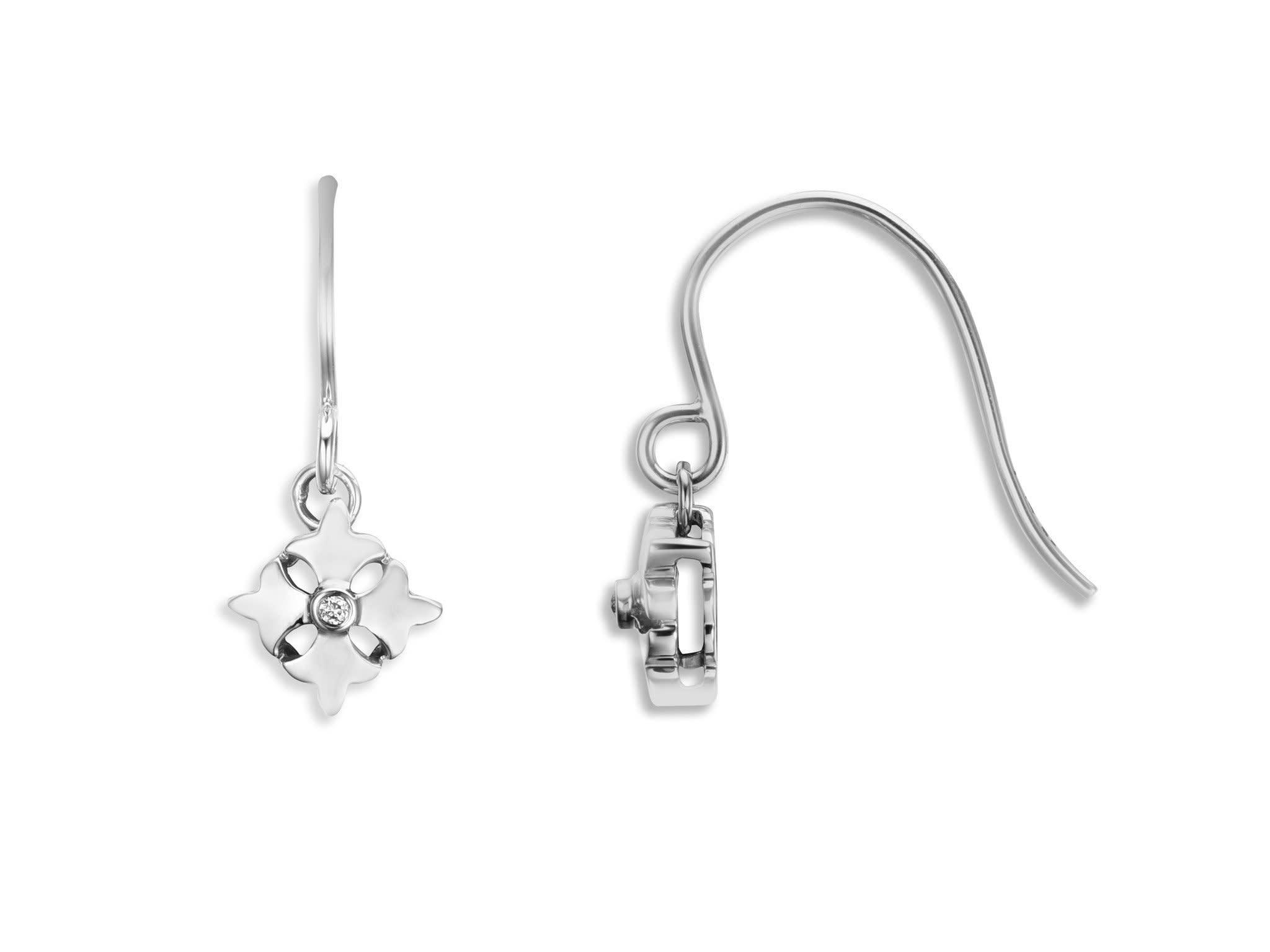 Cross Logo Link Earrings Diamond