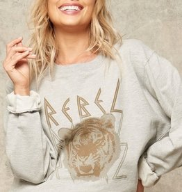 Rebel Graphic Sweatshirt Heather Grey