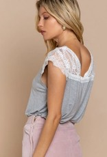 Forever Confession Knit Top Heather Grey
