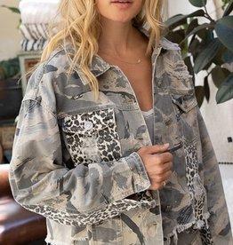 Beast Mode On Twill Jacket Grey Camo