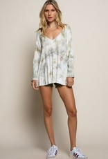 Let It Breathe Hand Dip Dye Knit Top Forest