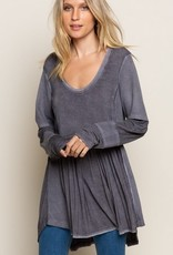 Spoonful Of Boho Vibe Top Dusky Charcoal