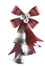 Metal Double Bells w/ Ribbon