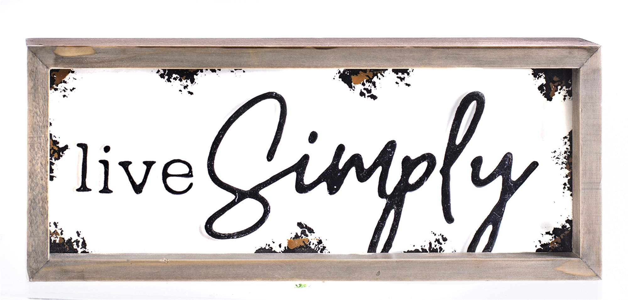 Live Simply Enamel Word Sign