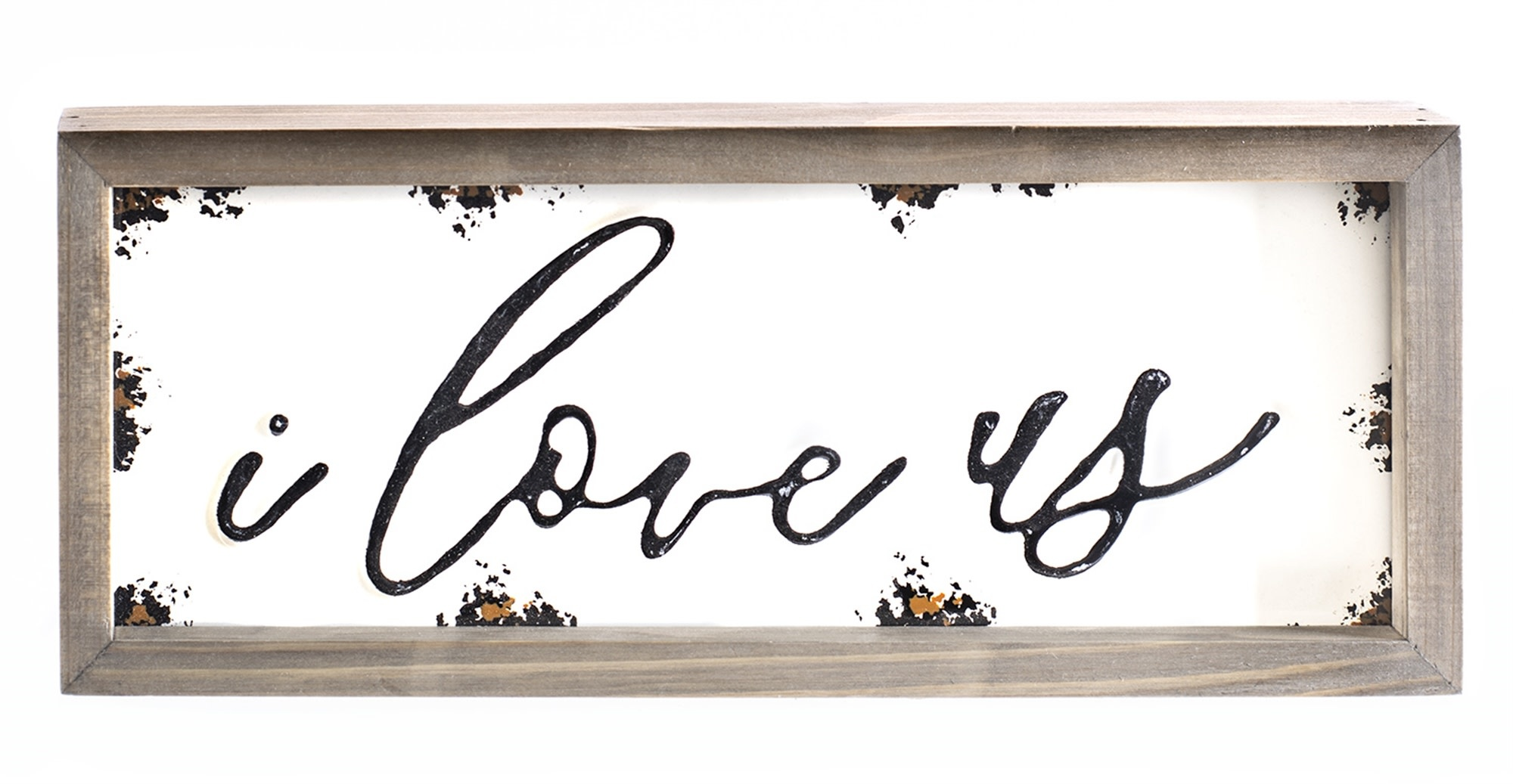 I Love Us Enamel Word Sign