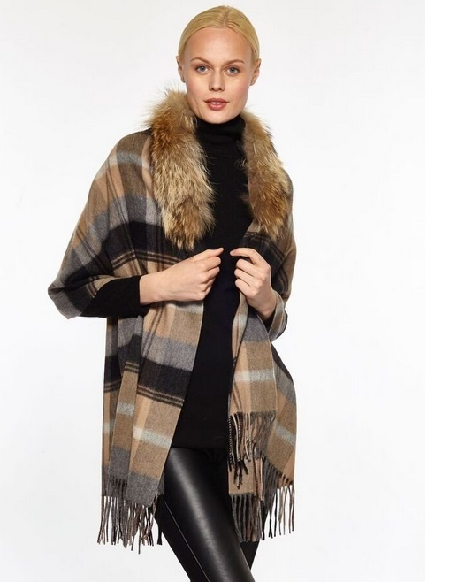 Linda Richards Cashmere Plaid Shawl