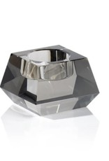 Dina Crystal Tealight Holder Smoke