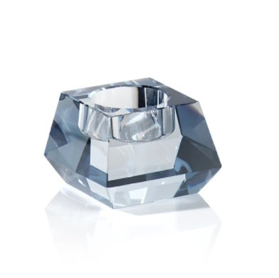 Dina Crystal Tealight Holder Blue