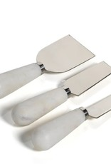 Marble Set of 3 Cheese Knives