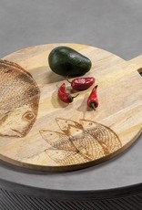 Nosara Round Natural Wood Cutting Board