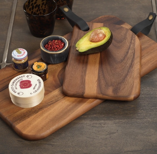 Bali Cheese Board with Leather Strap - Small