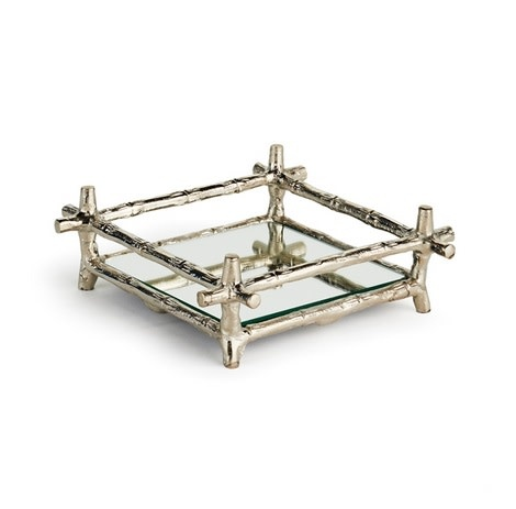 Brentwood Mirrored Cocktail Napkin Tray