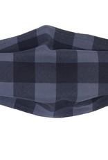 Buffalo Check Mask Grey/Black