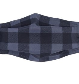 Buffalo Check Mask Grey/Black