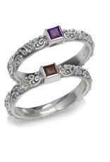 Mini Jawan Ring Garnet