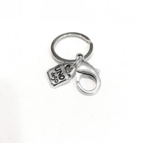 Uno de 50 Charm Key Ring Silver