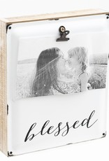 Wood & Enamel Pic Clip Blessed